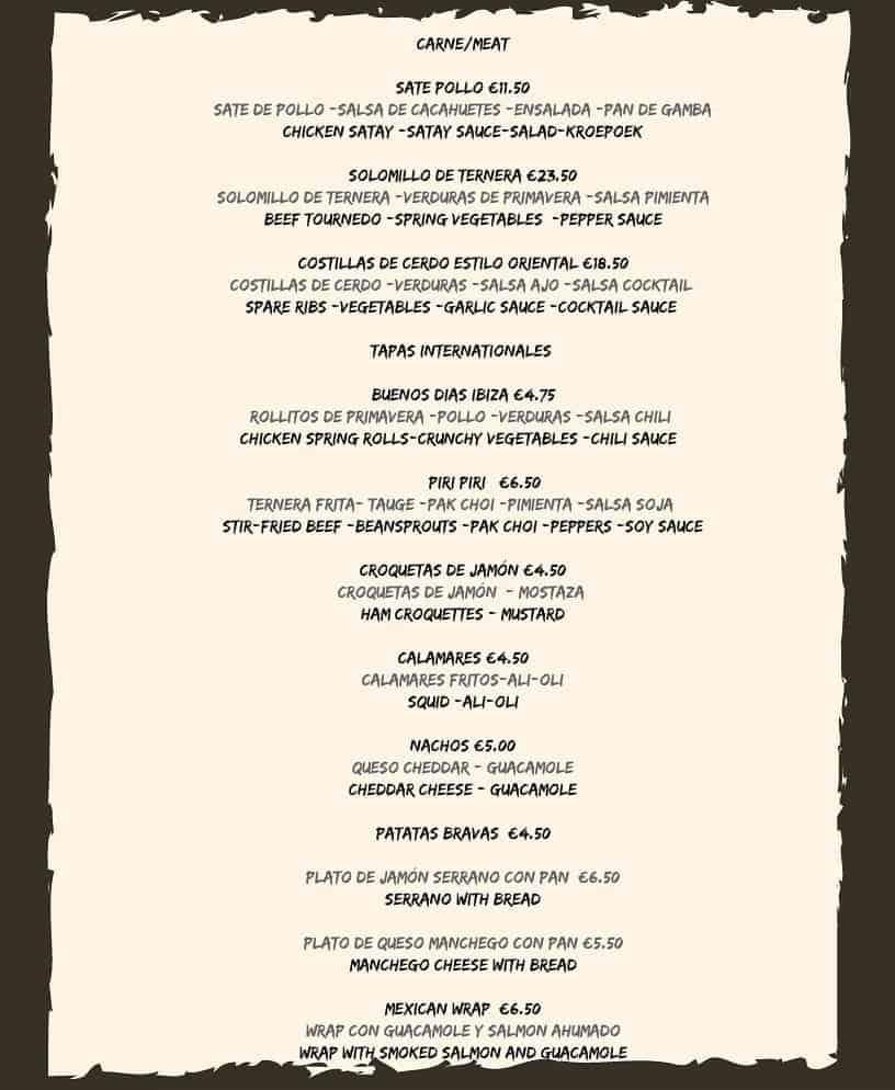 can jesper ibiza menu